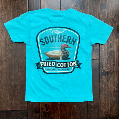 Southern Fried Cotton - Youth SS Duck on Call Tee - Seafoam