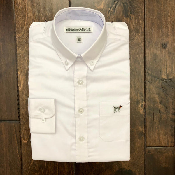 Southern Point - Youth Brindle Oxford - White
