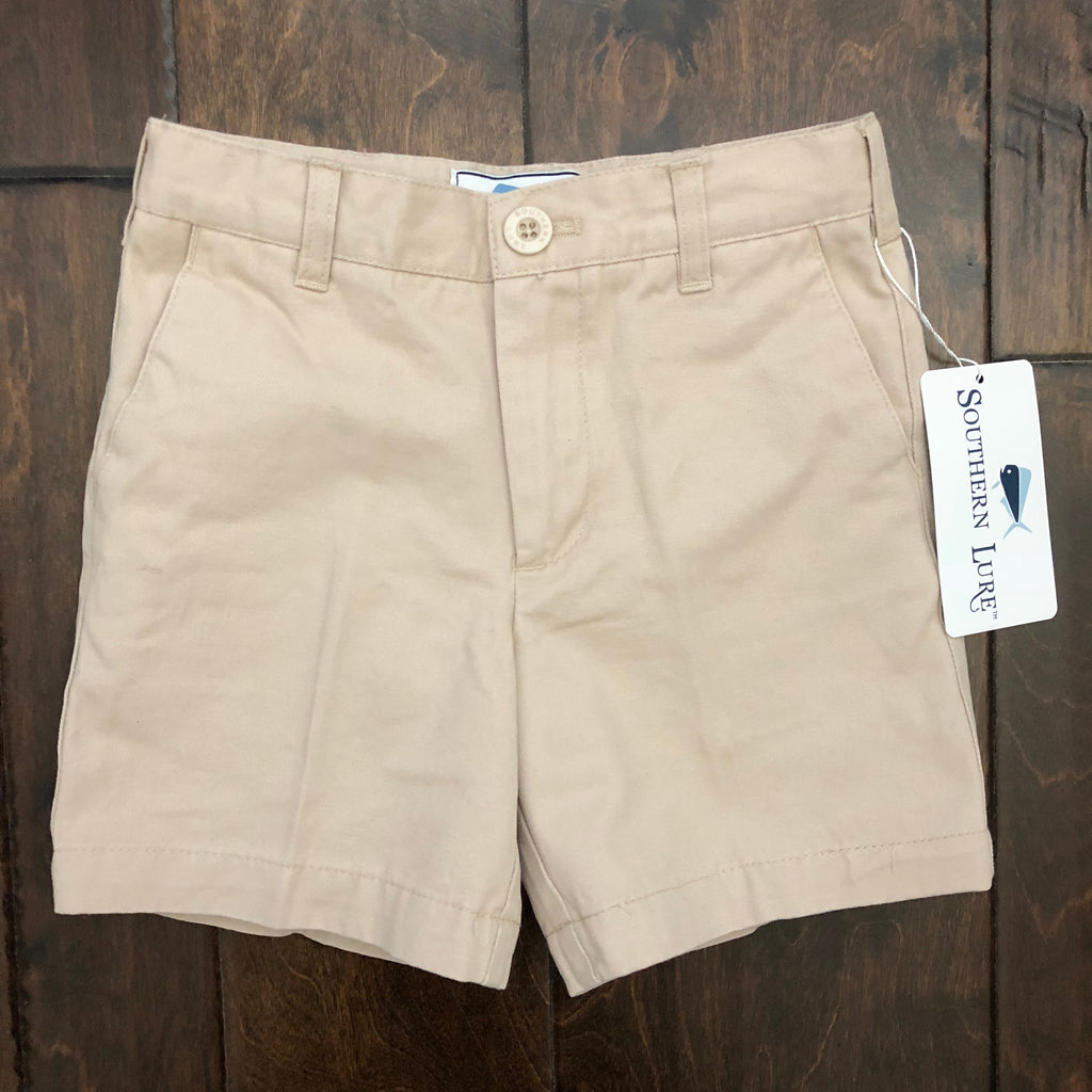 Southern Lure - Toddler and Youth Twill Shorts - Khaki
