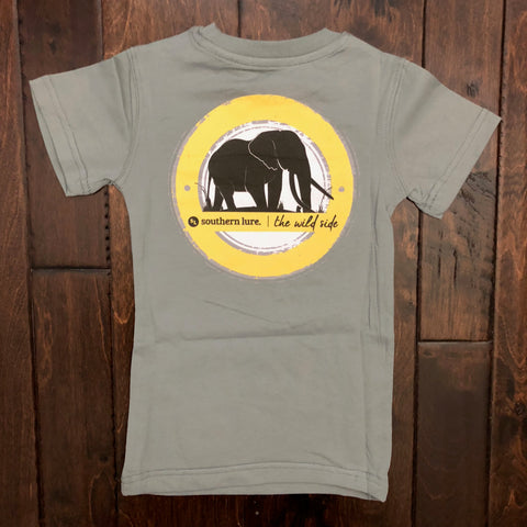 Southern Lure - Toddler & Youth SS Elephant Tee - Bay