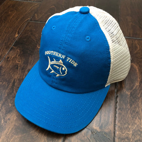 Southern Tide - Boys' Washed Skipjack Trucker Hat - Deep Water