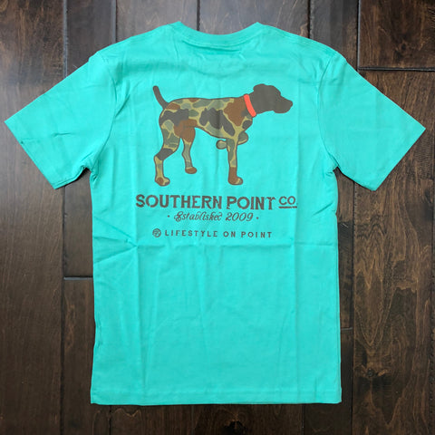 Southern Point Co - Boys Camo Pointer SS Tee - Gray