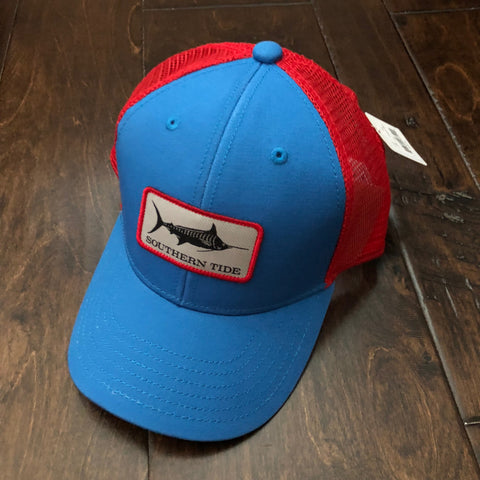 Southern Tide - Youth Blue Marlin Trucker Hat - Cobalt Blue