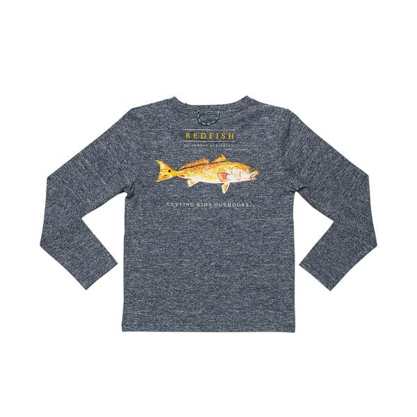 Prodoh - LS Redfish Performance Tee - Gray