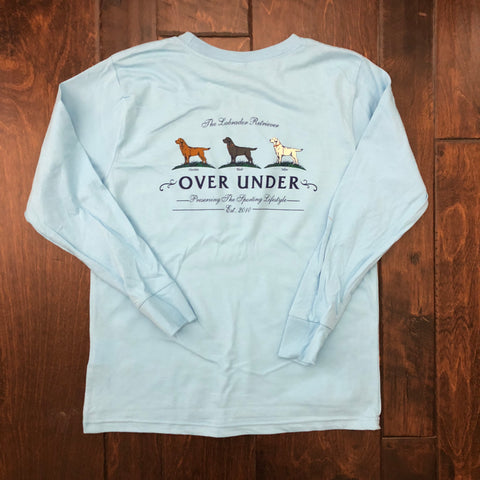 Over Under Clothing - Boys L/S Lab Trio Tee - Light Blue