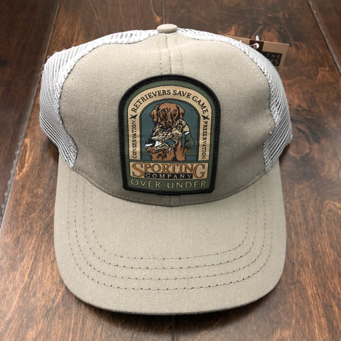Over Under Clothing - Youth Mesh Back Retriever Save Game Trucker Hat - Gray