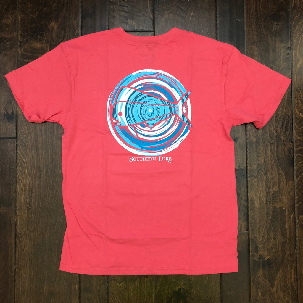 Southern Lure - Toddler & Youth SS Ripple Logo Tee - Coral