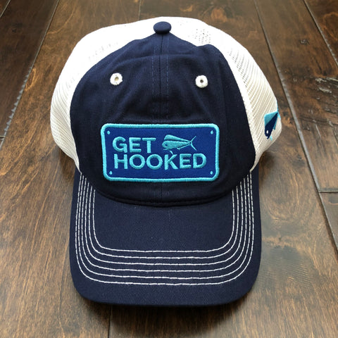 Southern Lure - Youth Get Hooked Trucker Hat - Navy