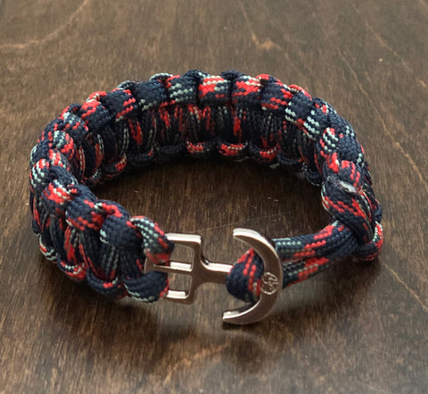 Youthful Cotton - Anchors Away Bracelet - Dusk Fire