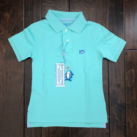 Southern Tide - Boys Skipjack Polo - Offshore Green