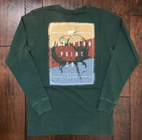 Southern Point - LS Cotton Logo - Green