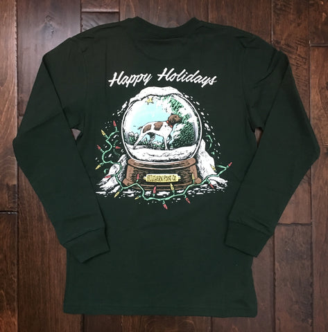 Southern Point Co - Happy Holidays LS - Holly Green