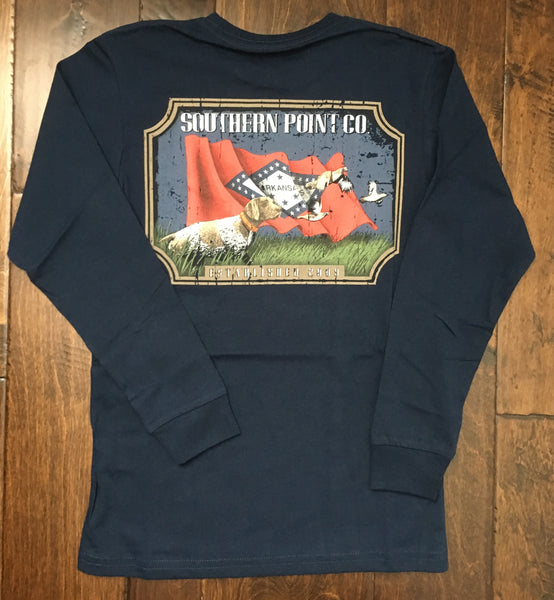 Southern Point Co - LS State Traditions Arkansas - Navy