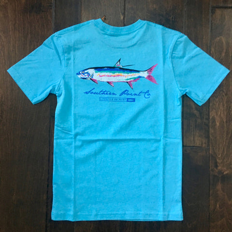 Southern Point - Youth Signature Tee - Fish Sky Blue