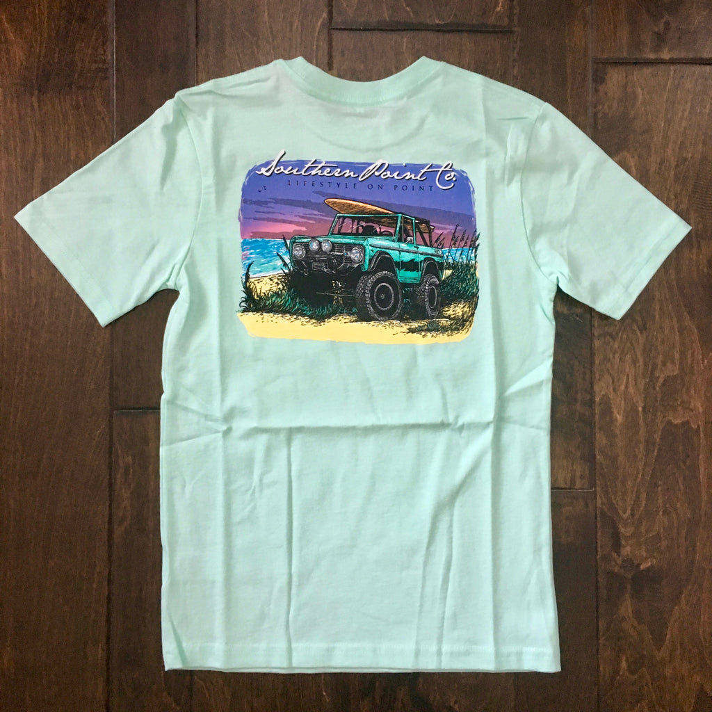 Southern Point - Youth Signature Tee - Mint Jeep