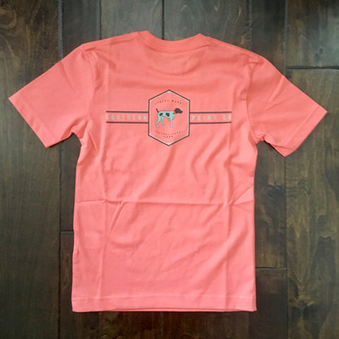 Southern Point - Youth Signature Tee - Pointer Band Logo Coral