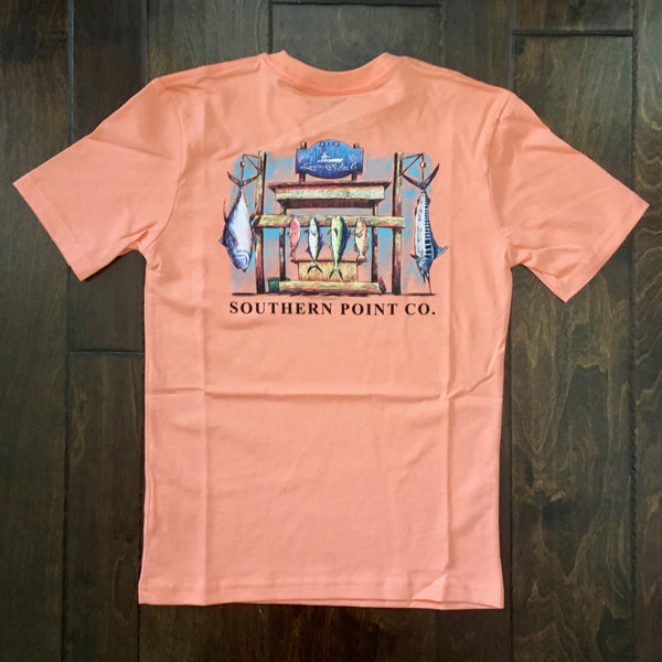 Southern Point - Youth Signature Tee - Fish Stand Tangerine