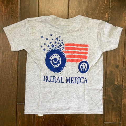 Turnrows - Rural Merica Youth SS Tee - Gray