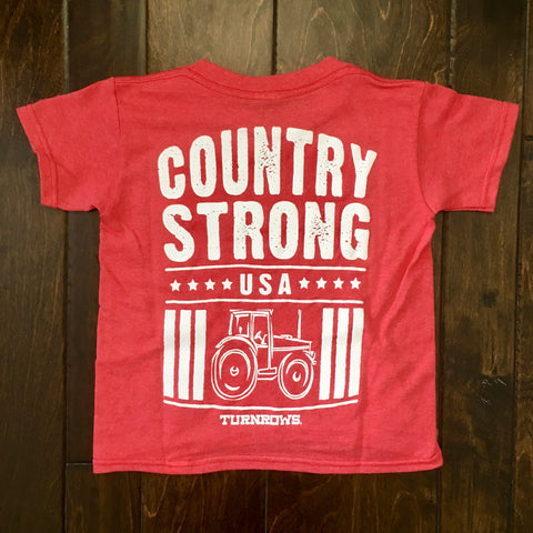 Turnrows - Country Strong Youth SS Tee - Red