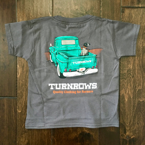 Turnrows - Pointer Truck Youth SS Tee - Charcoal