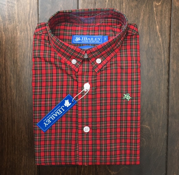 J. Bailey by The Bailey Boys - Berry Plaid Button Down