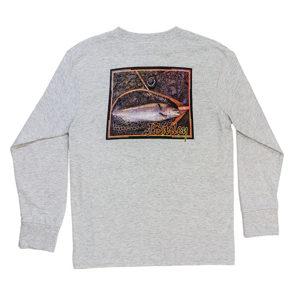 J. Bailey by The Bailey Boys - Fish LS Tee - Gray