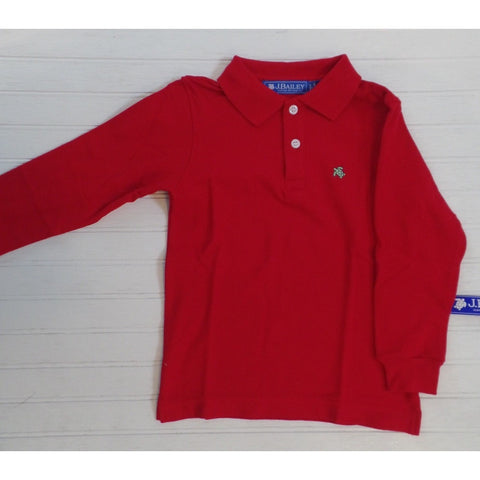 J. Bailey by The Bailey Boys - Red Henry Long Sleeve Polo