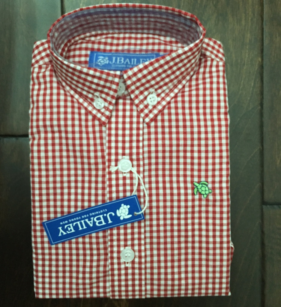 J. Bailey by The Bailey Boys - Tobasco Red Check Button Down Shirt