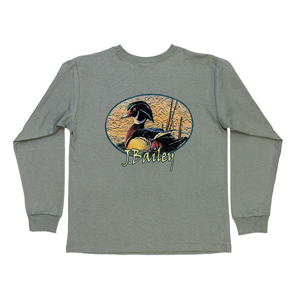 J. Bailey by The Bailey Boys - Wood Duck LS Tee - Sage