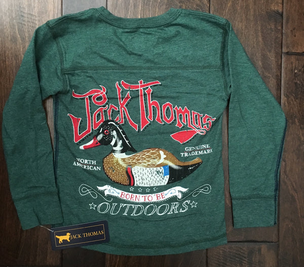 Jack Thomas - Longsleeve Duck Yoke - Evergreen