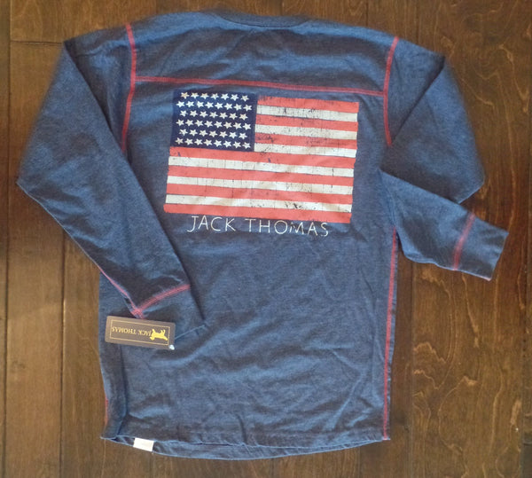 Jack Thomas - Longsleeve Flag Yoke - Midnight