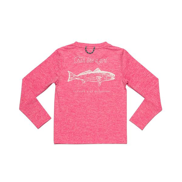 Prodoh - LS Redfish Performance Tee - Pink