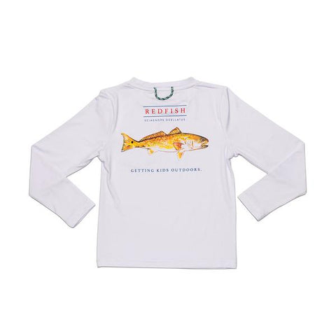 Prodoh - LS Redfish Performance Tee - White