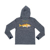 Prodoh - Redfish Hooded LS Performance Tee - Gray