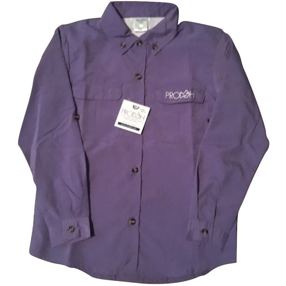 Prodoh sun protective youth fishing shirt purple for Prodoh fishing shirts