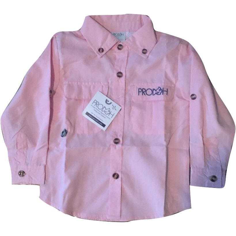 Prodoh sun protective youth shirt pink youthful cotton for Prodoh fishing shirts