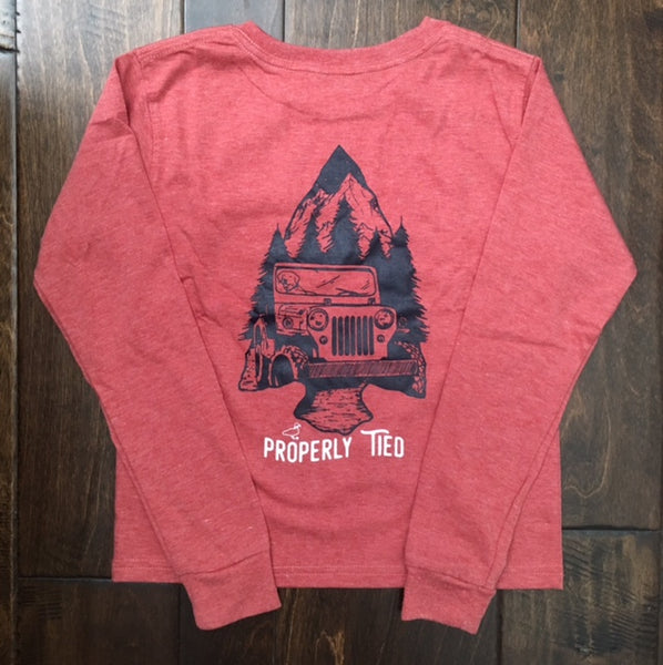 Properly Tied - Arrowhead LS Shirt - Rustic Red