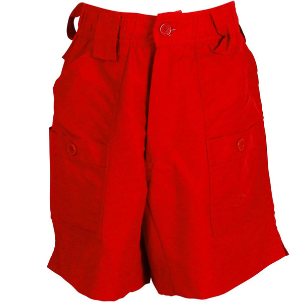 AFTCO - Youth Boys Fishing Shorts - Red