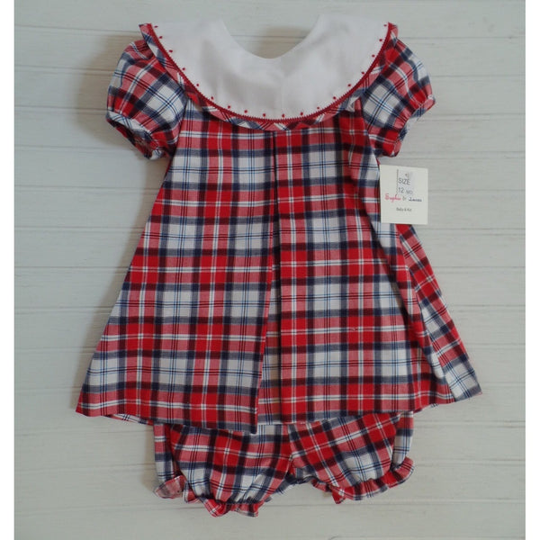 Sophie & Lucas - Red Check Dress w/ Bloomers