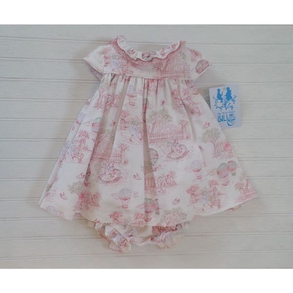 Luli & Me - Balloons Baby Dress w/ Panty in Pink