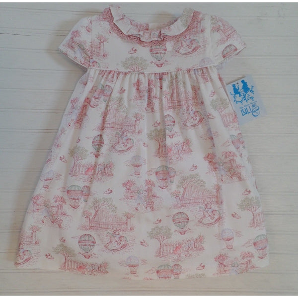 Luli & Me - Balloons Baby Dress in Pink