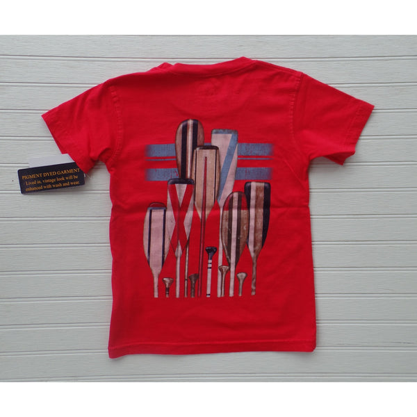 Jack Thomas - Oars Pigment Pocket Tee - Bright Red