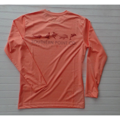 Southern Point Co - Orange Sea Life Dryfit Performance Shirt