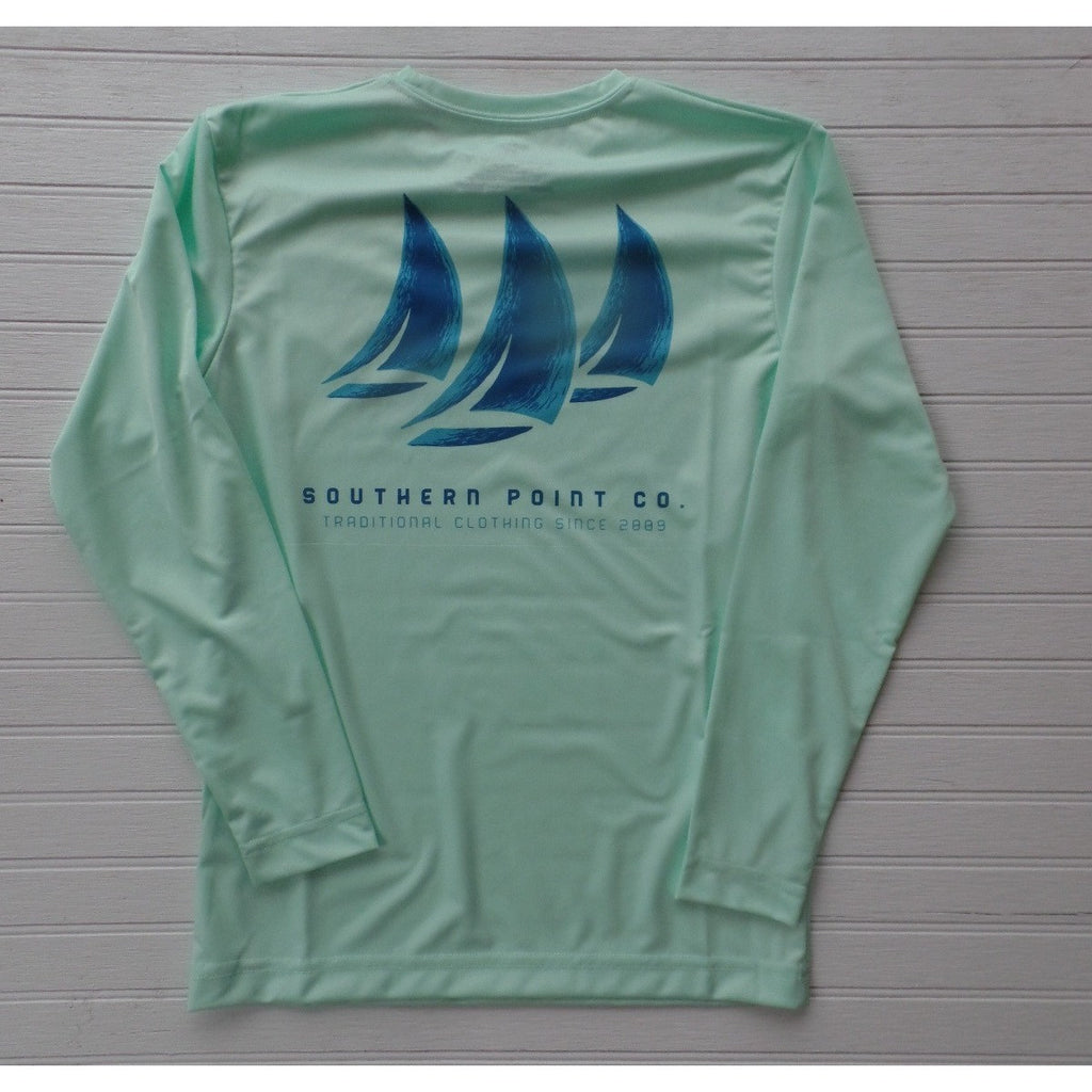Southern Point Co - Green Sail Dryfit Performance Shirt