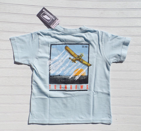 TURNROWS - Air Duster SS T-Shirt - Light Blue