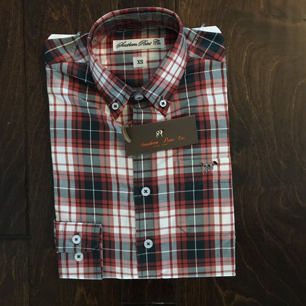 Southern Point Co - Youth Fall Plaid Hadley Button Down
