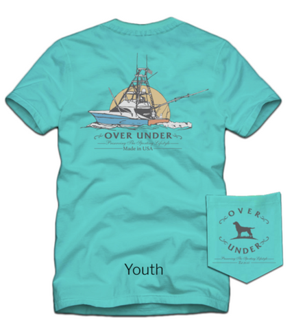Over Under Clothing - Youth Headed Out SS Tee - Seafoam