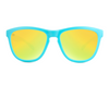 Knockaround Sunglasses - UV400 Sun Protection - Matte Blue w/ Yellow Lens (Ages 1 - 5)