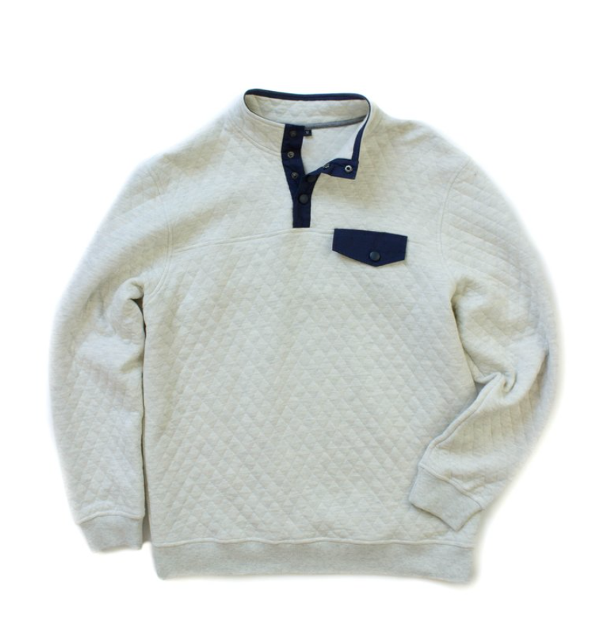 Properly Tied - Quilted Pullover - Marble