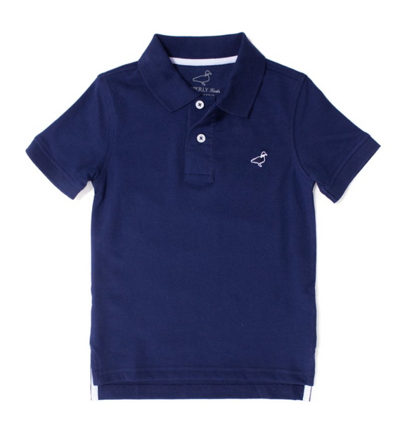 Properly Tied - Pique Polo - Navy
